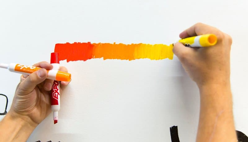 You can create beautiful gradient effects using Expo and other whiteboard markers