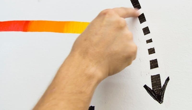 Use your finger to create details in whiteboard inks