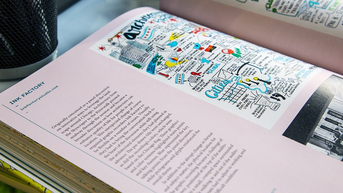 Ink Factory's work featured in the new book on Graphic Recording