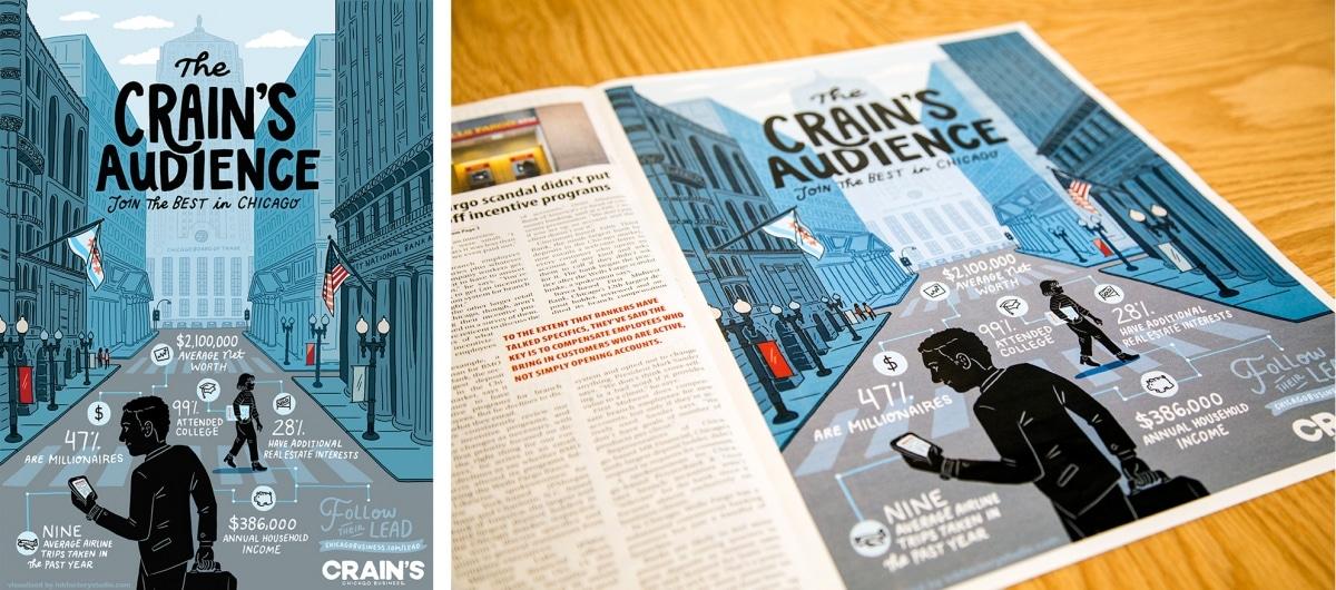 Illustration for Crain's Chicago Business