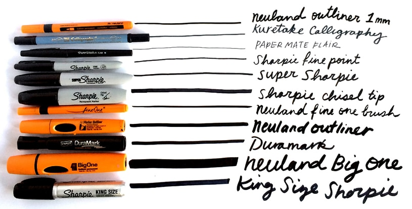Many different markers used for graphic recording